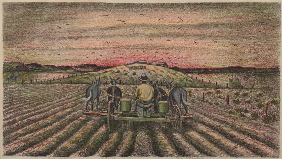 Merritt Mauzey (Am. 1898-1973), Good Earth, lithograph