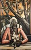 David Bates (Am. 1952-), Baton Rouge, Portrait of 1990,