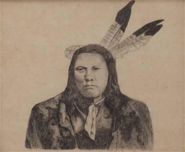 Vaughan Wyatt (Am. 20th Cent.), Indian Portrait,