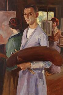 Dickson Reeder (Am. 1912-1970), Self Portrait of