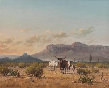 Melvin C. Warren (Am. 1920-1995), The Vanishing Breed,