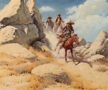 Harvey Johnson (Am. 1921-2005), Border Riders, 1974,