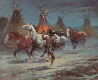Shep Chadhorn (Am. 20th Cent.), Lone Indian Stealing
