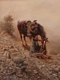 Mel H. Bradshaw (Am. 20/21st Cent.), Dust Wind, oil on