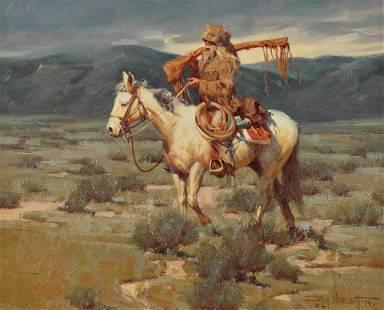 Gary Niblett (Am. Bn. 1943-), Horse and Rider, 1979,