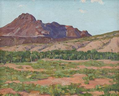 Fred Darge (Am. 1900-1978), West Texas, oil on
