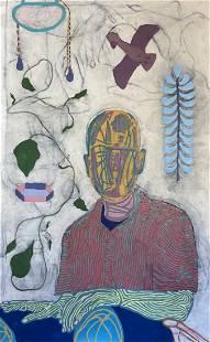 John Miranda (Am. 20/21st Cent.), Self-Portrait, 2021