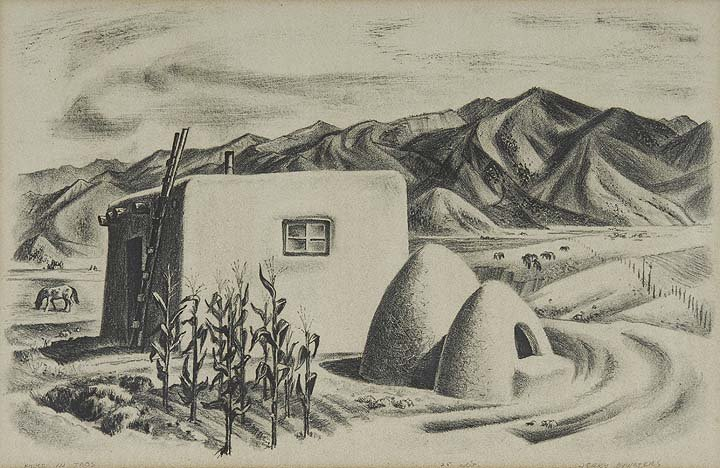 21: House in Taos, Ed. 25, 1939