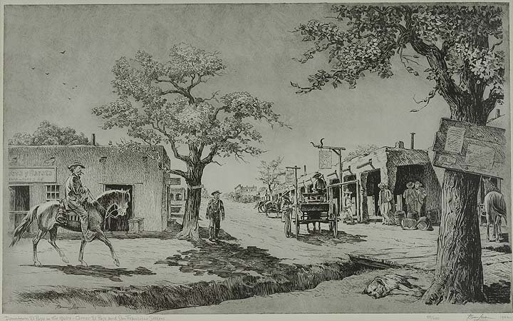 24: Downtown El Paso in the 1860's, Corner of El Paso &