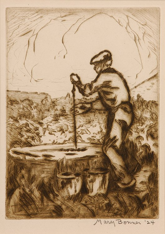 Man at the Water Well, 1924