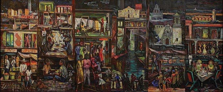 San Antonio, Texas in 1930; 1955