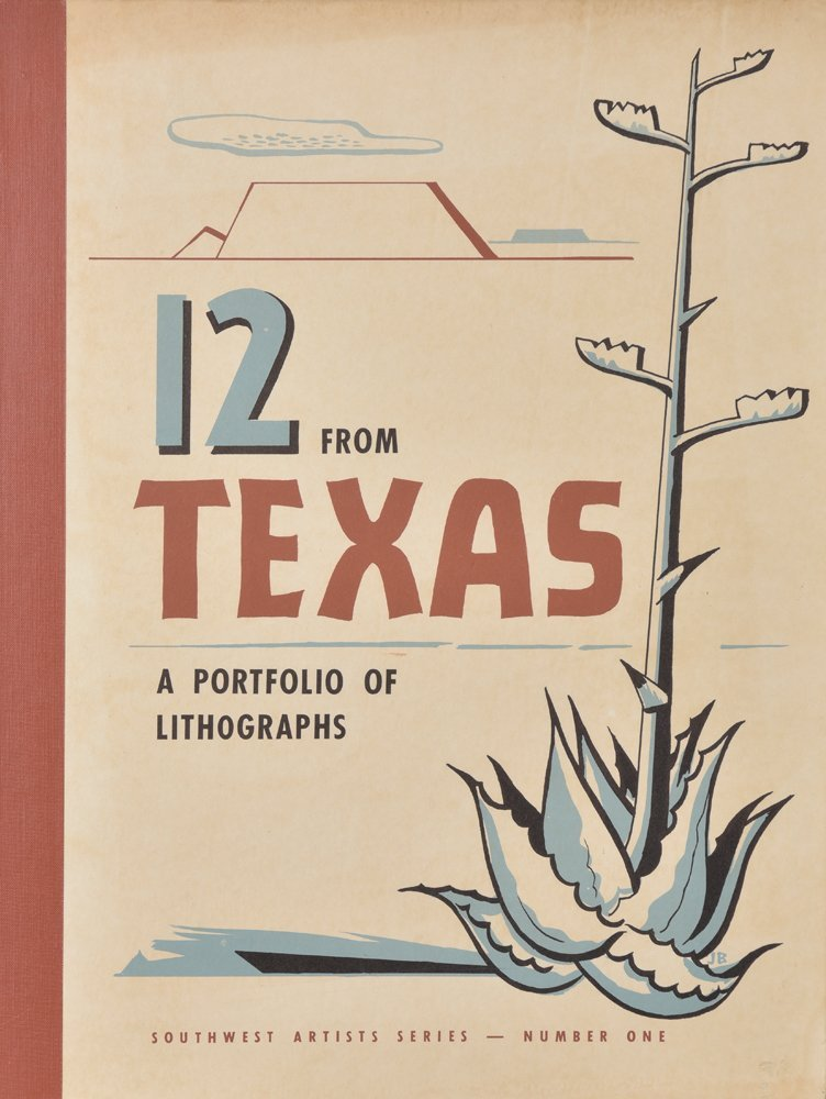 Jerry Bywaters, 12 From Texas; A Portfoli of Lithograph