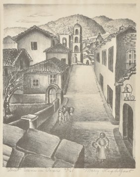Mary Lightfoot, Street Scene in Taxco, Ed. 22/25, 1940,
