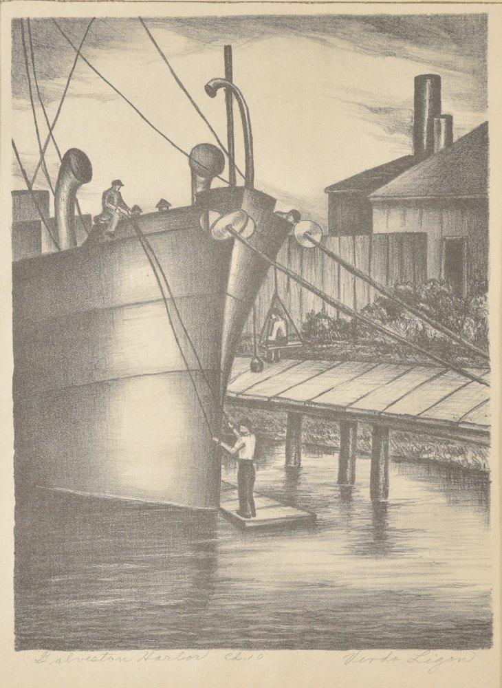 Verda  Ligon, Galveston Harbor, Ed. 10, 1940,