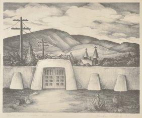 Verda  Ligon, Wall & Crosses, Ed. 25, lithograph