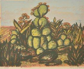 Mary  Lightfoot, Cacti, serigraph