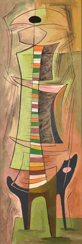 Bror Utter, Untitled, 1955, oil on masonite