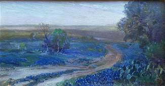 Julian Onderdonk, Road Through the Lupin, San Antonio,