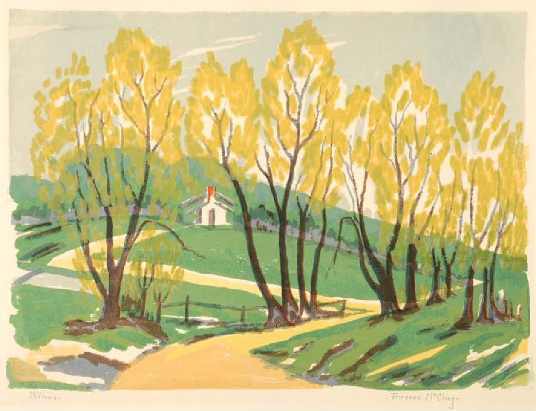 Florence  McClung, Willows, screenprint