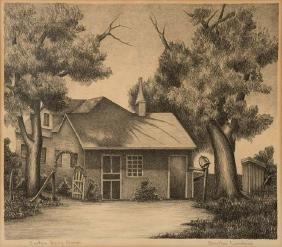 Bertha Landers, Sinton Dairy Ranch, lithograph