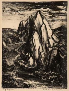 Mary  Lightfoot, Red Rock Canyon, lithograph
