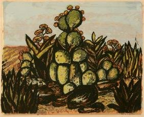 Mary  Lightfoot, Cacti, serigraph