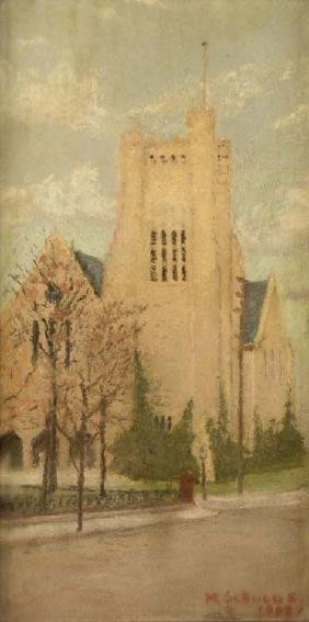 Margaret Ann Scruggs, Church, pastel on paper