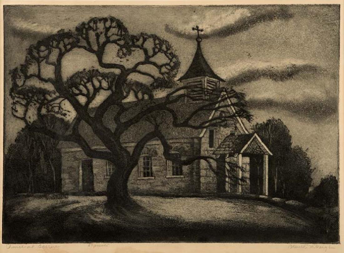 Blanche McVeigh, Church at Boerne, 1951, Ed. 50,