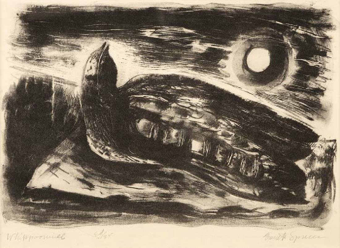 Everett Spruce, Whippoorwill, Ed. 25, lithograph