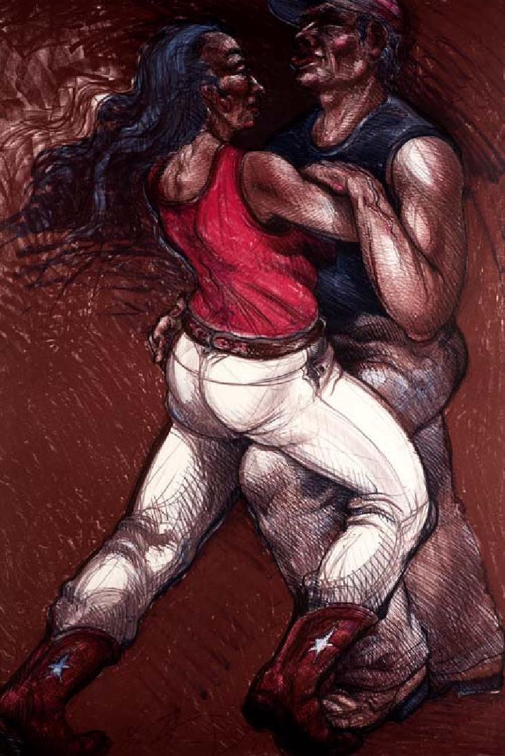 Luis Jimenez, Texas Waltz, Ed. 18/50; 1985, color