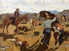 Fred Darge Rustlers oil on canvas