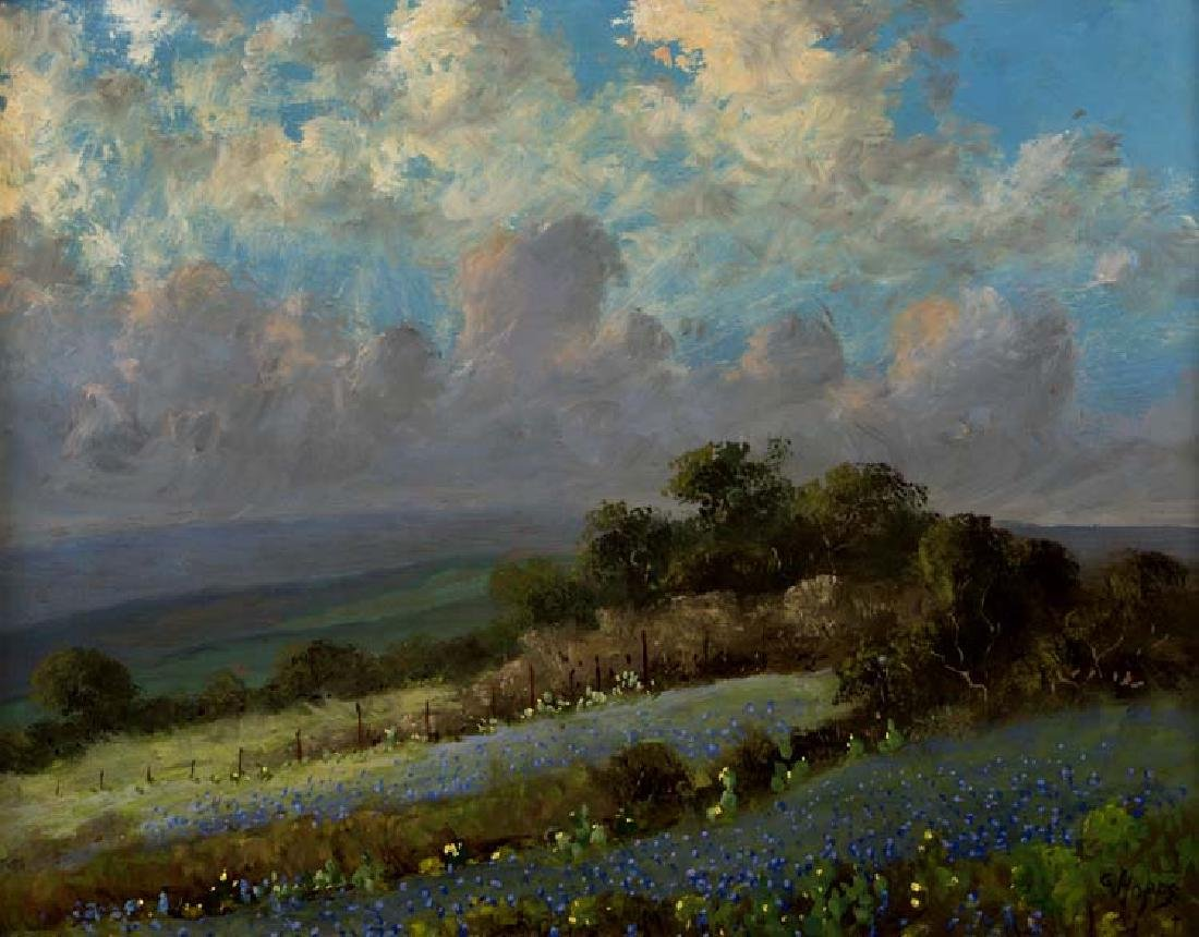 Carl Hoppe, Just Before the Rain, Boerne, Tex, oil on
