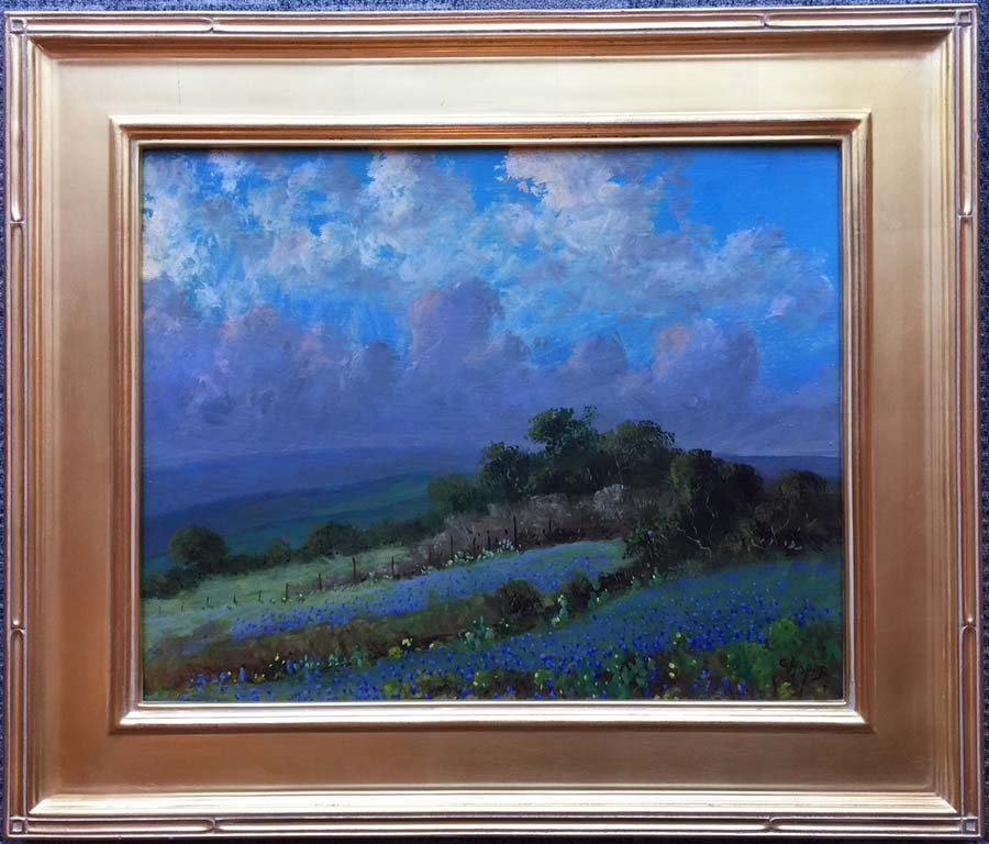 Carl Hoppe, Just Before the Rain, Boerne, Tex, oil on - 2