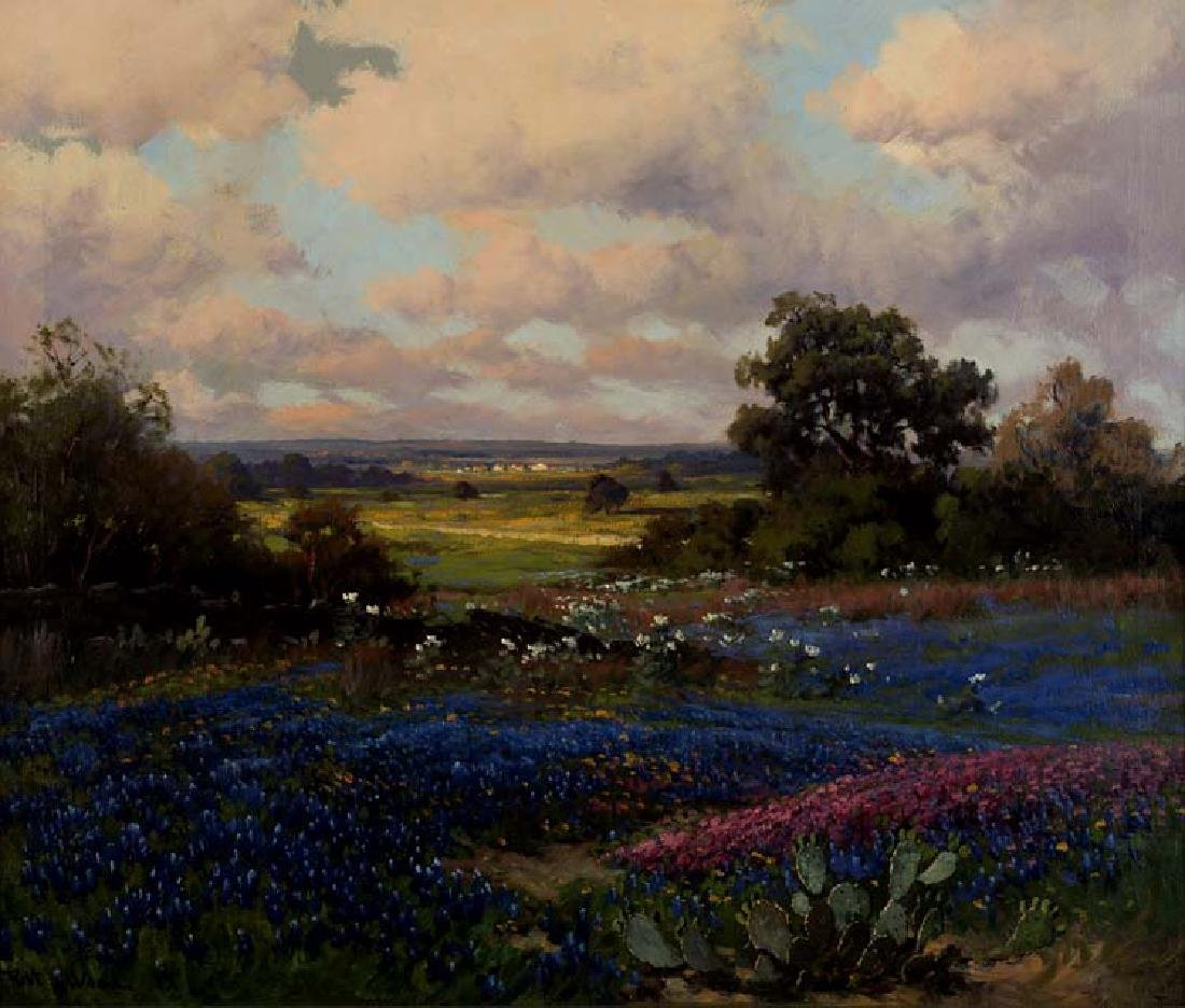 Robert  Wood, Spring Flowers, oil on canvas