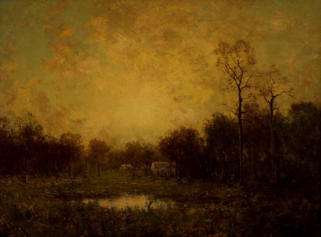 Julian Onderdonk, New York Farm House, oil on canvas
