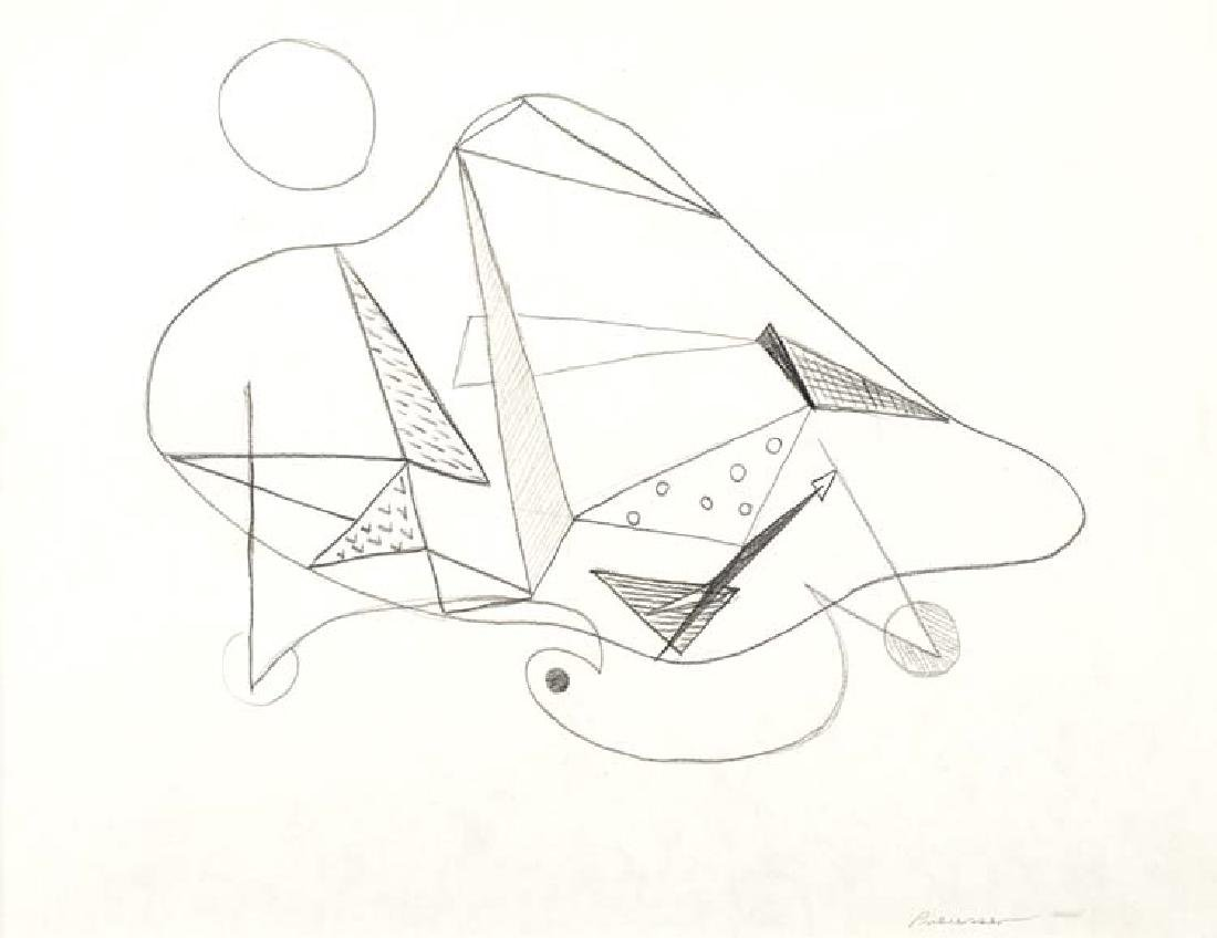 Robert Preusser, Organic Shapes & Line Drawing, 1939,