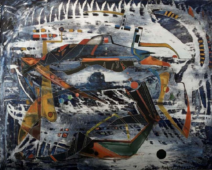 Robert Preusser, Warlike Theme, 1938, oil on masonite