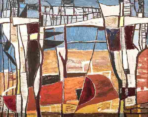 William Lester, Untitled, c. 1950, oil on masonite