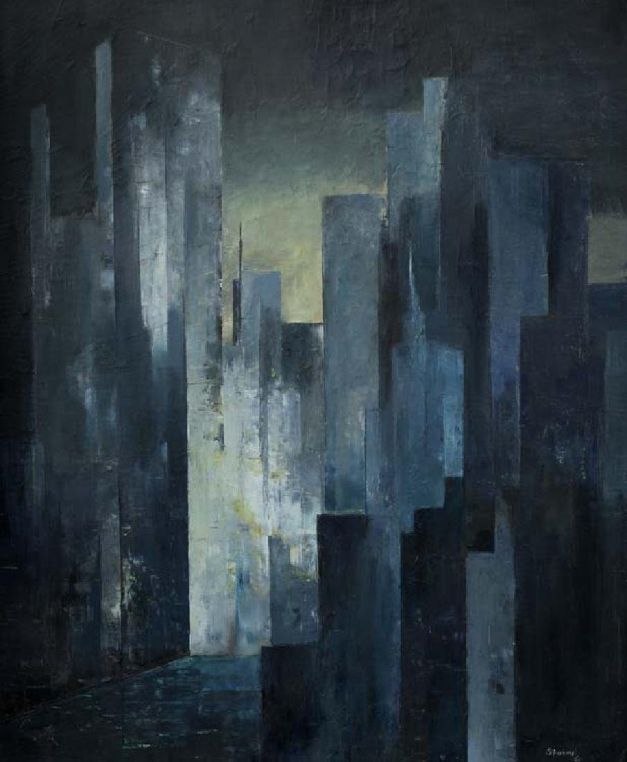 Ed Storms, Abstraction, oil on board