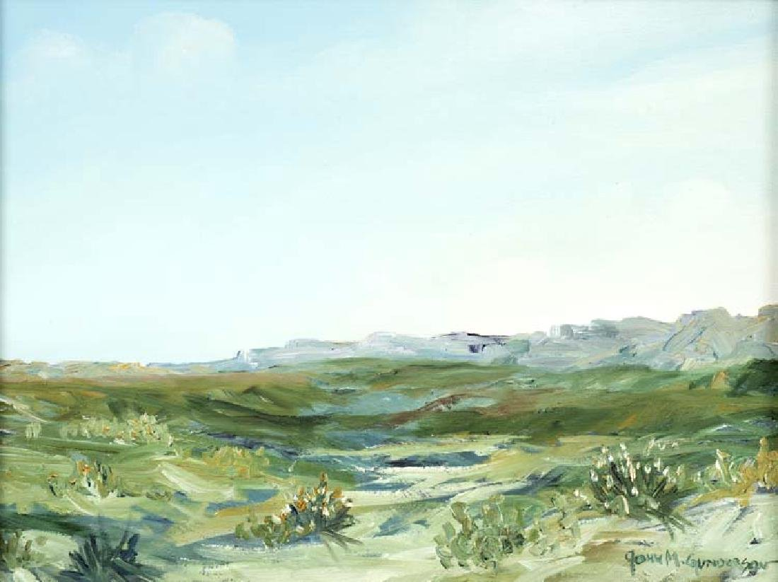 John Gunderson , Landscape, oil on canvas
