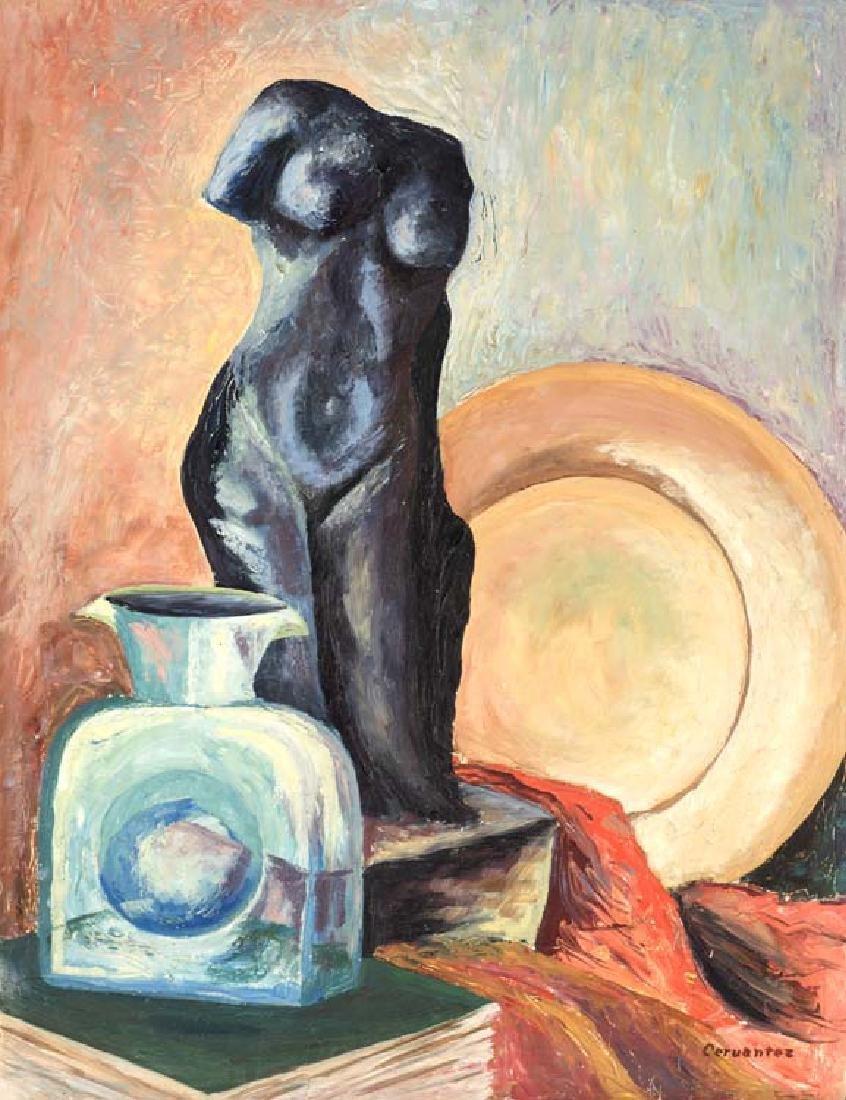Pedro Cervantez (1914-1987), Still Life, oil