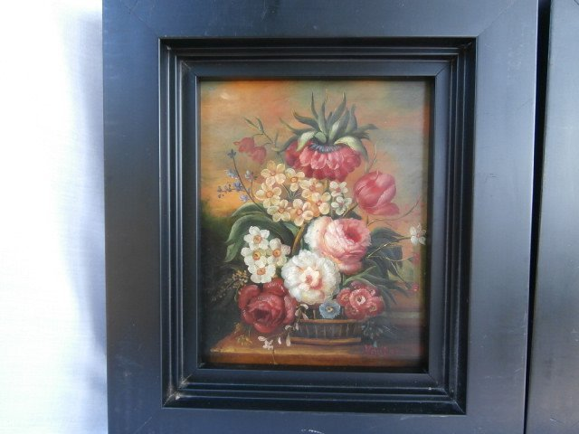 Pair of Dutch Flemish Floral Still Life Paintings - 3