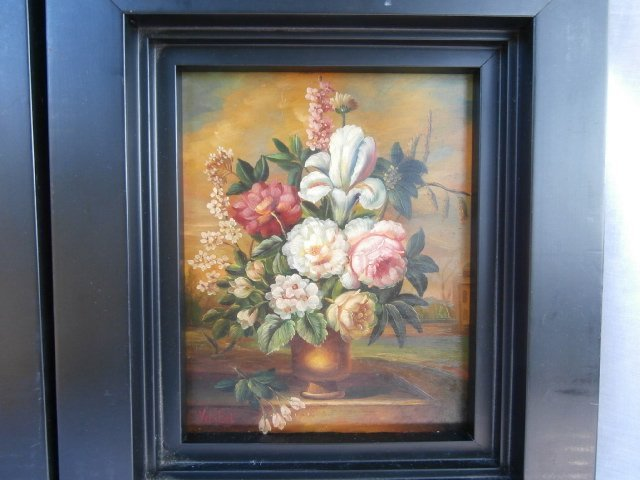 Pair of Dutch Flemish Floral Still Life Paintings - 4