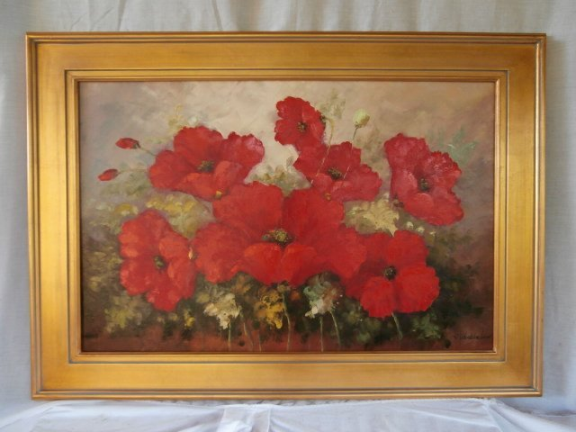 Large Red Poppy Still Life painting