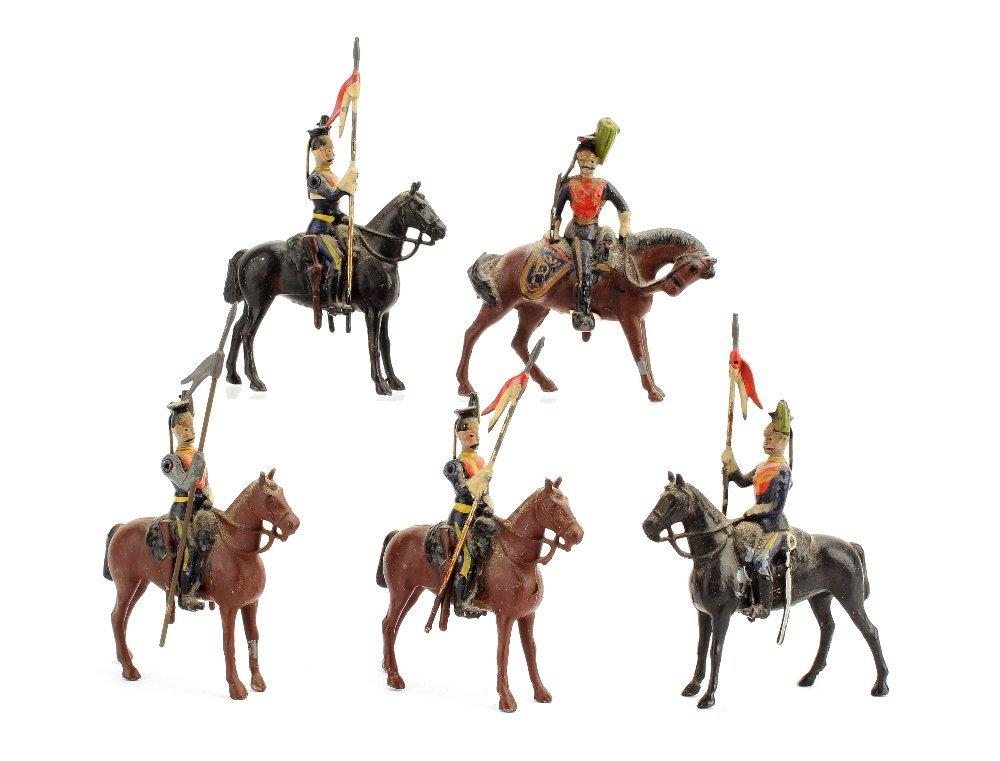 Britains set 23 The 5th Irish Lancers, F-VG, one