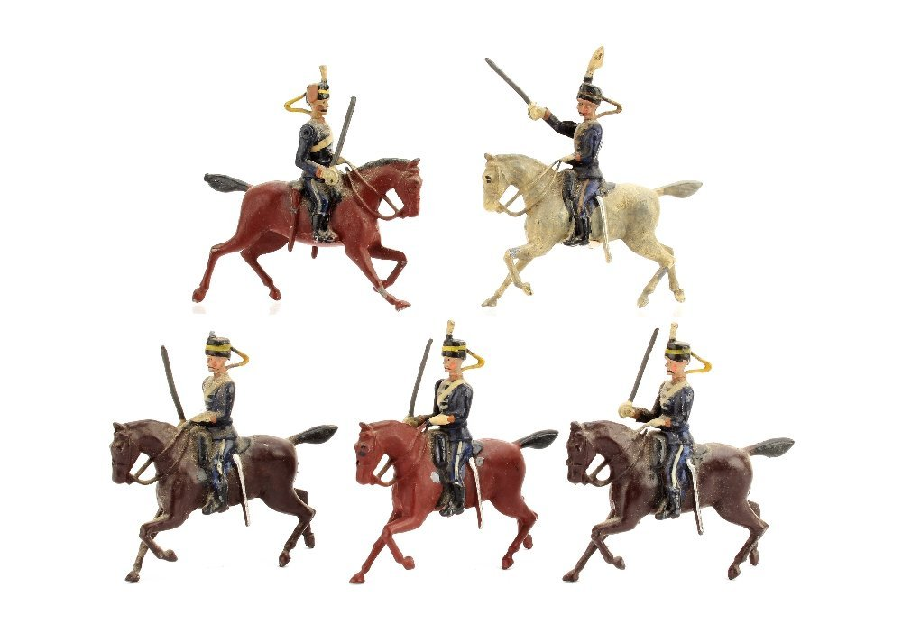 Britains set 99 the 13th Hussars, on pony horse, F-VG,