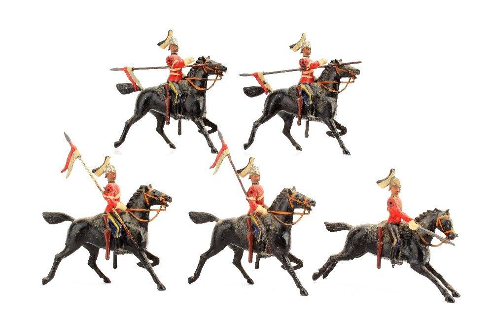 Britains set 127 The 7th Dragoon Guards, G-VG, minor