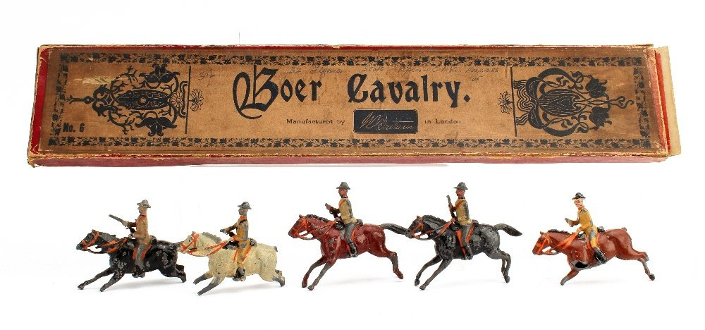 Britains set 6 Boer Cavalry, 5 pieces in 1st type box,