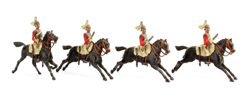 Britains 4 pieces from set 43 The 2nd Life Guards, 1901