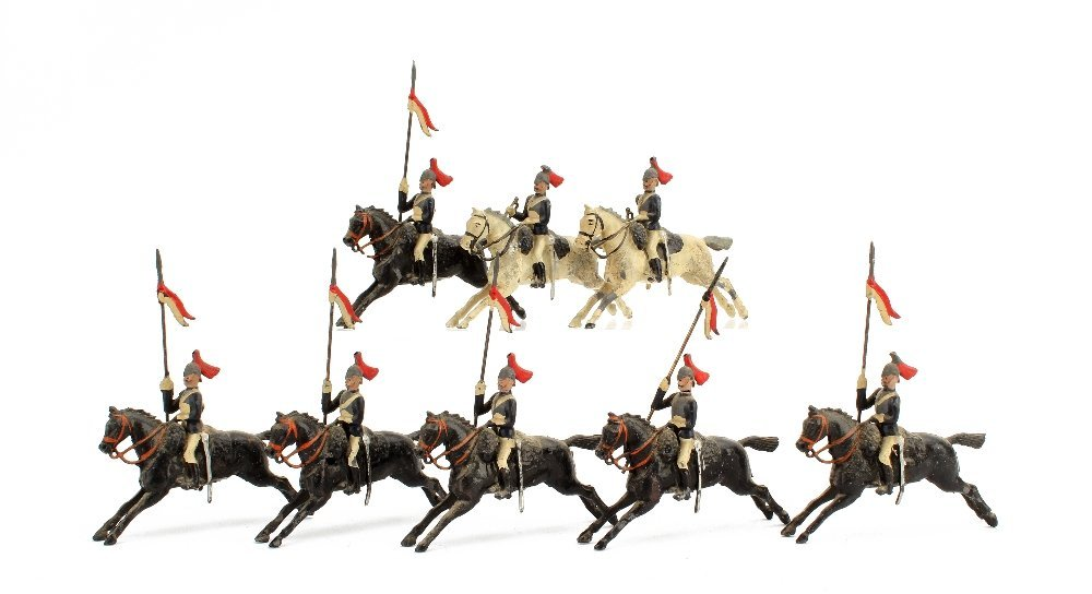 Britains 1901 version Horse Guards from set 93, buglers